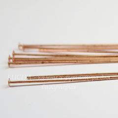 Пины-гвоздики TierraCast 50х0,6 мм (цвет-медь), 10 штук