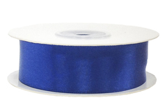 Лента атласная Синий, 12 мм * 22,85 м