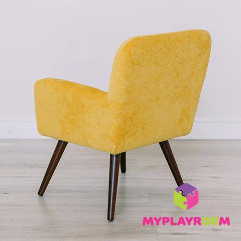 Детское стильное кресло в стиле 60-х, медовый 4