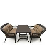 Комплект плетеной мебели T130Br/LV520-1 Brown/Beige 4Pcs