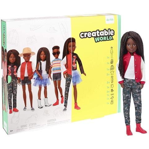 Creatable World Кукла с Темными Заплетеными Волосами