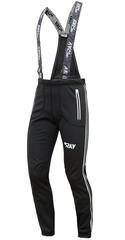 Лыжные разминочные брюки Ray Tour Uni Black с высокой спинкой