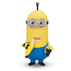 Миньон Кевин с бананом интерактивная игрушка Soft Skin 27 см