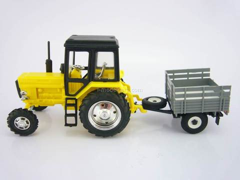 Tractor MTZ-82 Belarus plastic with Trailer Agricultural 1:43 Agat Mossar Tantal