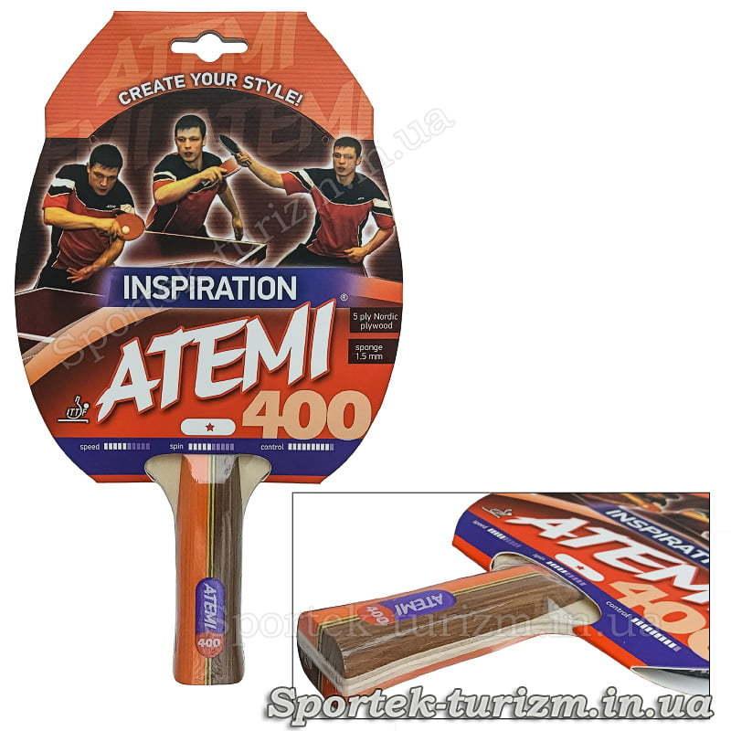 Ракетка для настольного тенниса Atemi 400 INSPIRATION