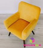 Детское стильное кресло в стиле 60-х, медовый 3