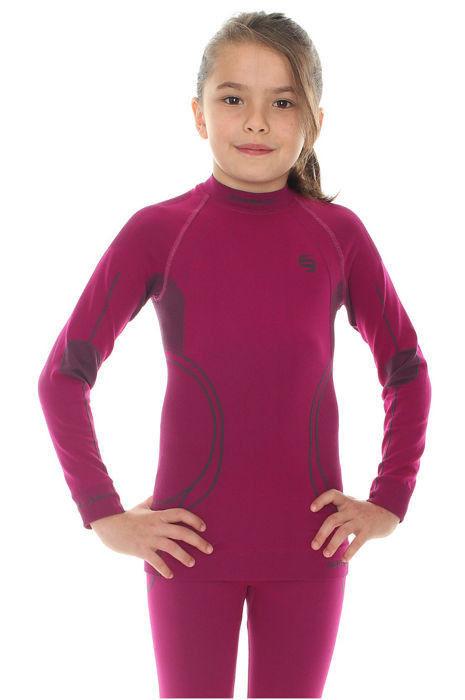 Термобелье рубашка детская Brubeck Thermo фиолетовая (LS11450) для девочек