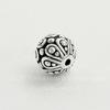 "Бусина - шарик TierraCast ""Casbah"" 7 мм (цвет-античное серебро)"