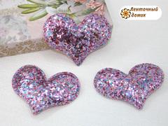 Мягкое блестящее сердце розовое №2