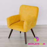 Детское стильное кресло в стиле 60-х, медовый 1
