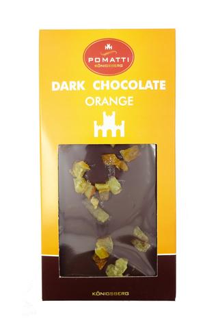 Шоколад темный с апельсином