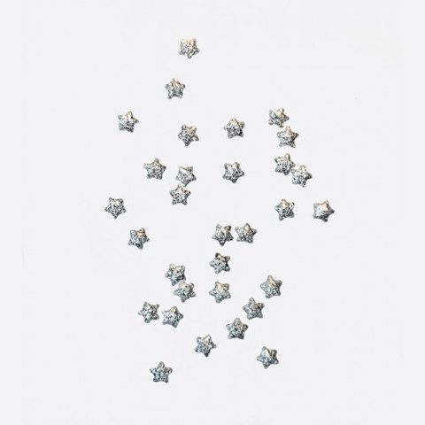 ARTEX Полусферы звезды шлифованные серебро 2х2 мм