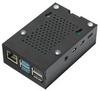 Корпус для Raspberry Pi 4 с вентилятором (LT-4B01 / алюминий / чёрный)