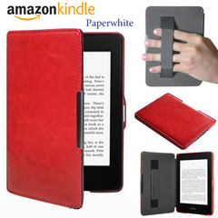 Чехол Hard Case Magnetic Cover with Hand Grip с фиксатором на руку для Amazon Kindle Paperwhite Red Красный