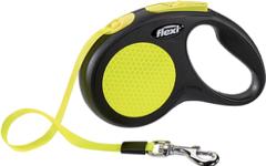 Поводок-рулетка Flexi Neon New Classic  S (до 15 кг) лента 5 м