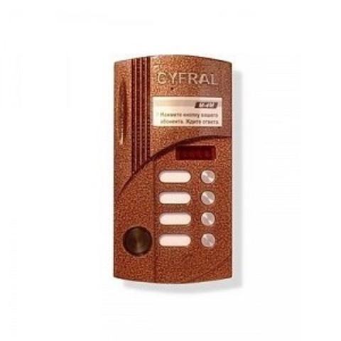 Вызывная панель аудиодомофона на 4 абонентов со считывателем Цифрал М-4М/Р
