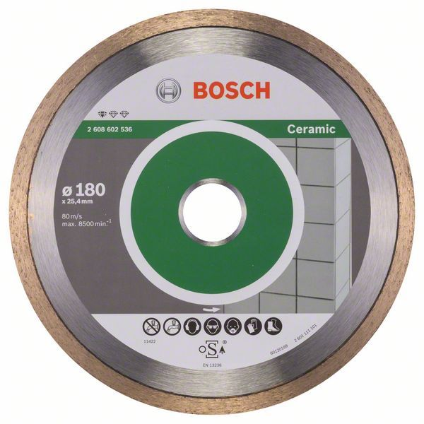Алмазный диск Standart for Ceramic 180-25,4 Bosch 2608602536
