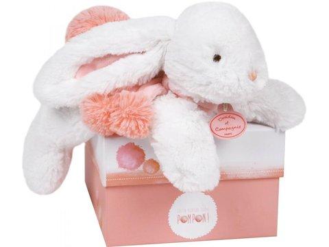 Doudou et Compagnie. Pompon MM rabbit coral 25cm