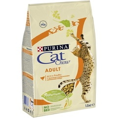 Cat Chow Adult Rich in Poultry для взрослых кошек, домашняя птица
