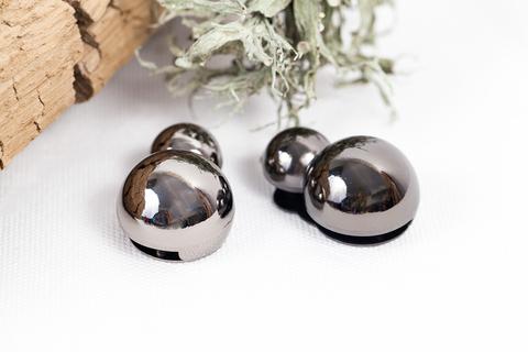 Кнопка магнитная, черный никель