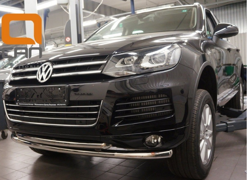 Защита переднего бампера двойная d 60/60 мм, нерж. CAN Otomotiv для VW Touareg (2010-2018) best price for vw can system id48 glass chip for vw id 48 transponder chip 5pcs lot free shipping