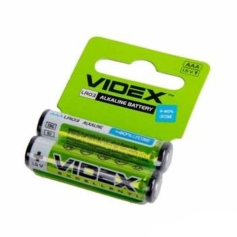 Батарейки Videx AAА LR03 (2 шт.)