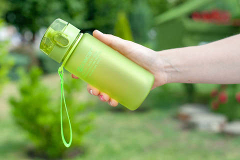 Бутылка для воды Powcan 400 мл - Green матовая