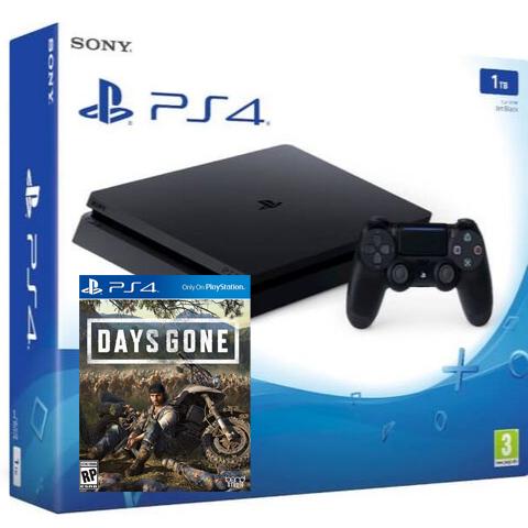 Sony PlayStation 4 Black Slim 1Тб (CUH-2208) + игра Жизнь после (Days Gone)