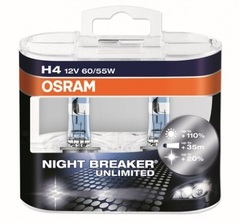 Лампа Osram H4 Night Breaker Unlimited (2шт) DuoBox 12v-55w