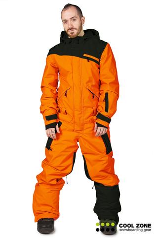 Сноубордический комбинезон мужской Cool Zone оранжевый-черный