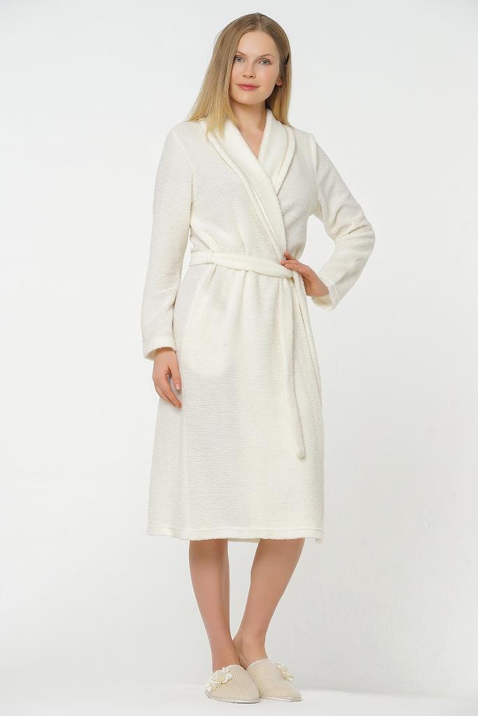 Махровый халат с шерстью B&B (Женские халаты)