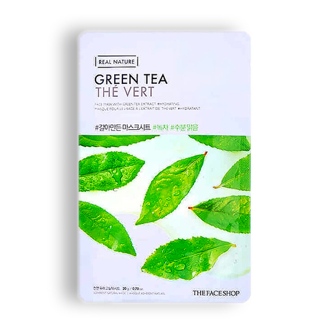 THE FACE SHOP Real Nature Green Tea Face Mask, 20 gr