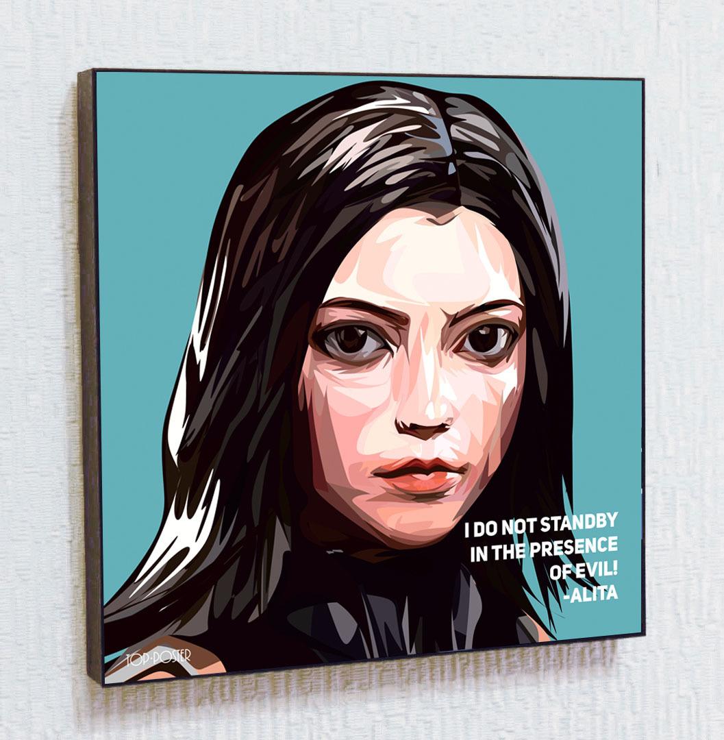 Картина ПОП-АРТ Алита портрет TOP POSTER