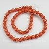 Бусина Жадеит (тониров), шарик, цвет - морковный, 8 мм, нить