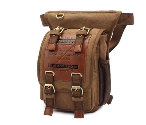 BAG386-2 Качественная мужская поясная сумка из ткани цвета хаки