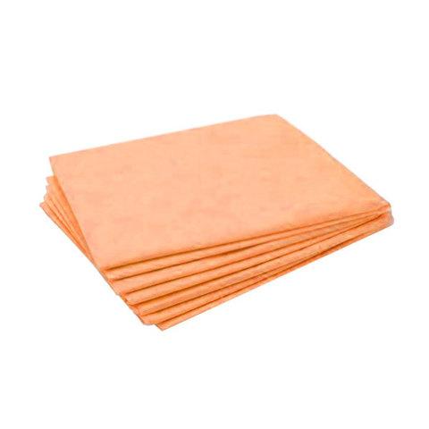 Одноразовые простыни Стандарт сложенные, оранжевые, СМС, 200х70см (25шт/уп)