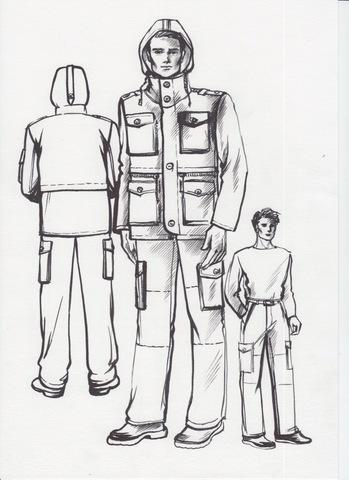 Лекала утепленного костюма с объемными карманами