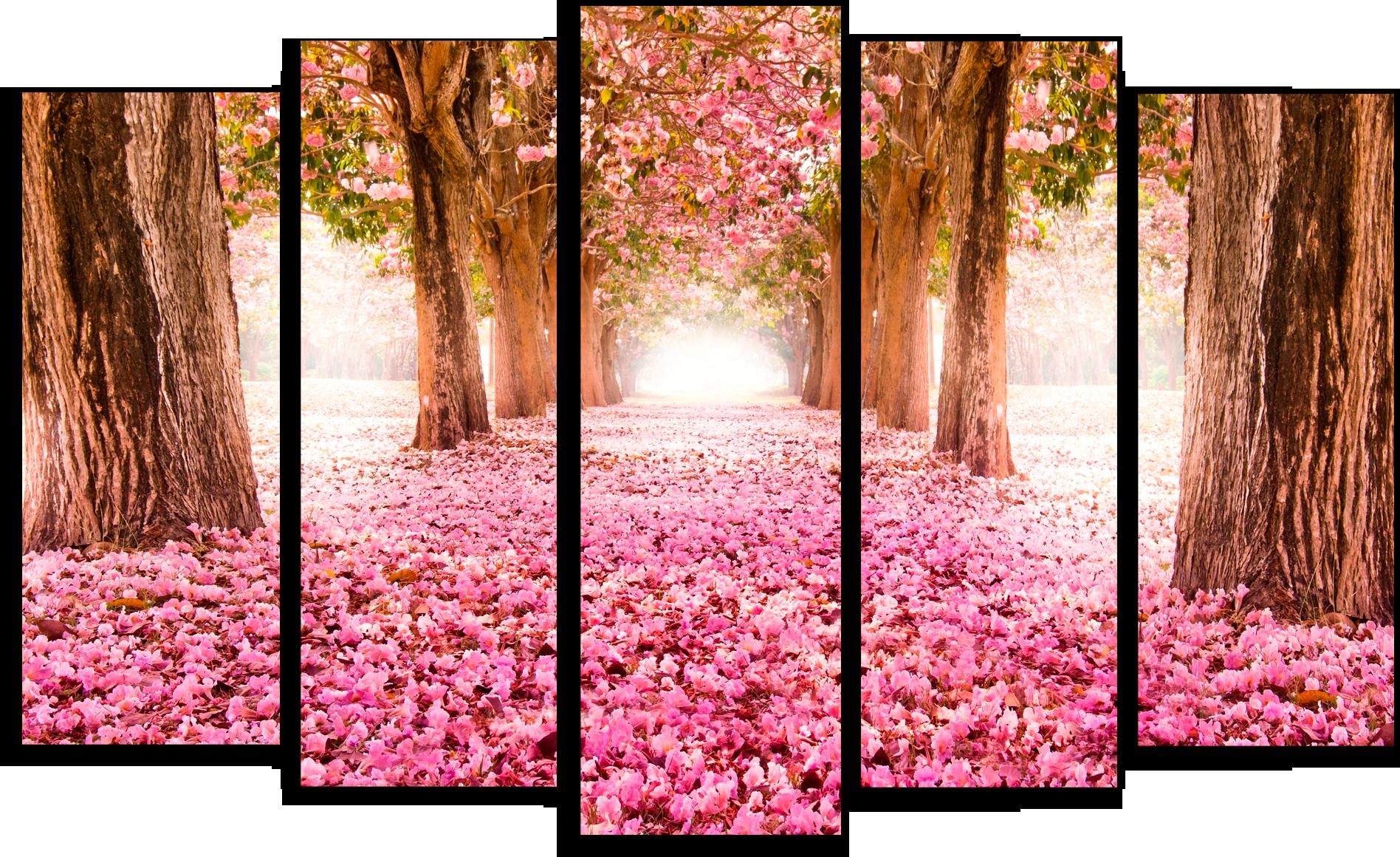 """Модульные картины Модульная картина """"Розовый сад"""" М12.png"""