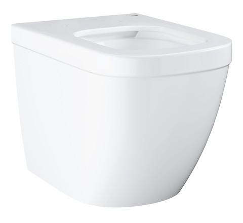 Чаша унитаза приставного под скрытый бачок безободковая Euro Ceramic 39339000