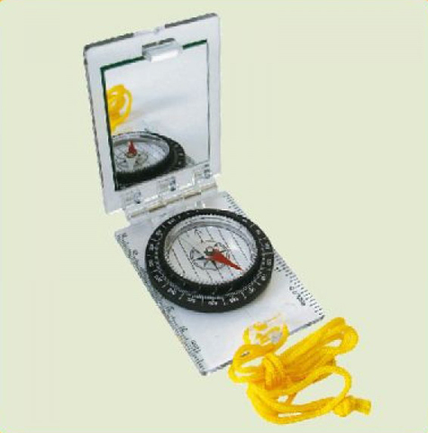 Компас складной с зеркалом AceCamp Foldable Map Compass w/mirror