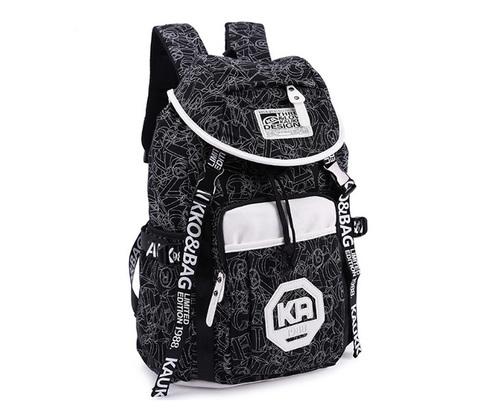 BAG387-1 Мужской городской рюкзак из ткани серого цвета