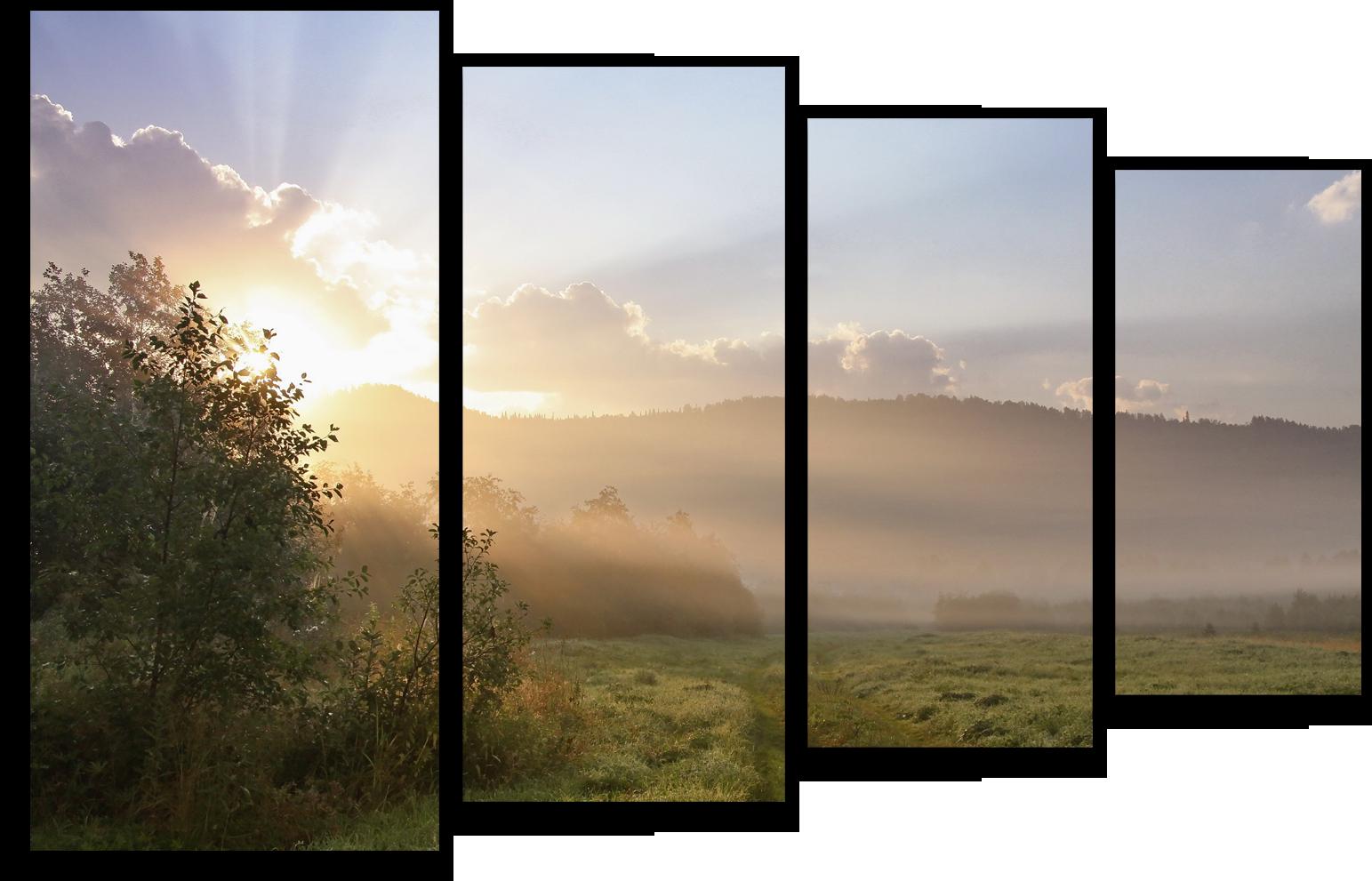 """Природа Модульная картина """"Утренние лучи"""" М554.png"""