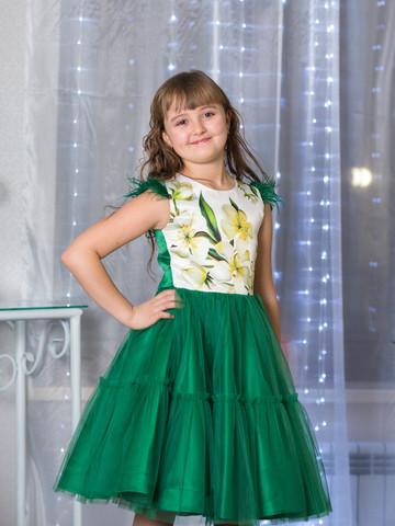 Пышное зеленое платье (арт.1909 зел)