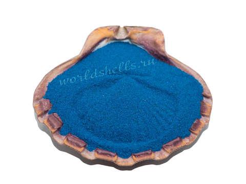 Синий кварцевый песок 1 кг.