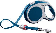 Поводок-рулетка Flexi VARIO L (до 60 кг) 5 м лента синяя