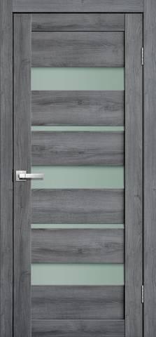 Дверь Porte line Мюнхен 20, стекло матовое, цвет дуб стоунвуд, остекленная