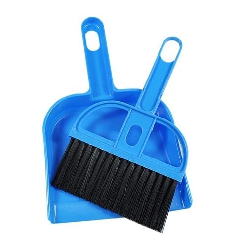 Мини-совок и щеточка (цвет: синий)