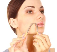 Пружинка для удаления волос на лице и теле