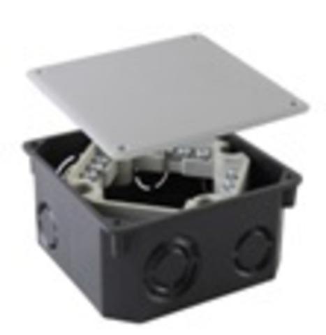 Распаячная коробка СП 110х110х50мм, крышка, клеммник, IP20, TDM