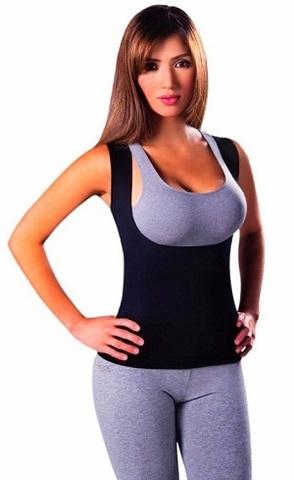 Майка Hot shaper c открытой грудью изготовлена из инновационной тка...